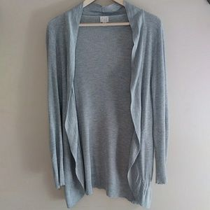 {A New Day} Gray Open Cardigan Size Med